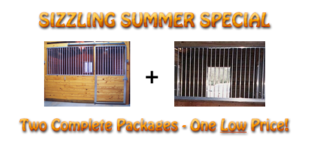 Two Horse Stall Packages for ONE Low Price!